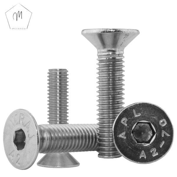 10 St/ück Linsenkopfschrauben M10 X 25//25 mit Innensechskant ISO 7380 Edelstahl A2